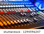 closeup view of live sound... | Shutterstock . vector #1294596247