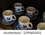 english tea cups on wooden... | Shutterstock . vector #1294602631