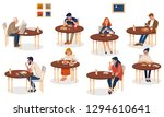 collection of cute people... | Shutterstock .eps vector #1294610641