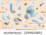creative  dynamic 3d geometric... | Shutterstock .eps vector #1294610851