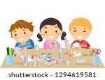 illustration of stickman kids... | Shutterstock .eps vector #1294619581