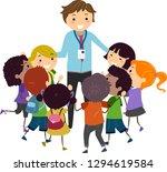 illustration of stickman kids... | Shutterstock .eps vector #1294619584