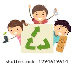 illustration of stickman kids... | Shutterstock .eps vector #1294619614