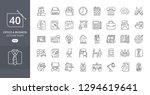 business office icon set. set... | Shutterstock .eps vector #1294619641