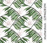 green leaf plant garden floral...   Shutterstock . vector #1294628194