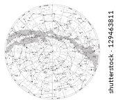 high detailed sky map of... | Shutterstock .eps vector #129463811