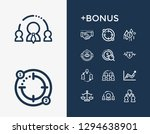 human resource icon set and...