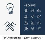 construction icon set and key...