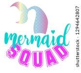 cute mermaid print. t shirt...   Shutterstock .eps vector #1294642807