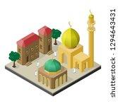 oriental city life in isometric ... | Shutterstock .eps vector #1294643431