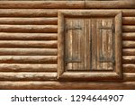 wooden window with shutters. a... | Shutterstock . vector #1294644907