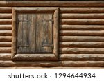 wooden window with shutters. a... | Shutterstock . vector #1294644934