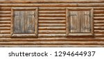 wooden window with shutters. a... | Shutterstock . vector #1294644937