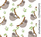 seamless pattern with cute... | Shutterstock .eps vector #1294645141