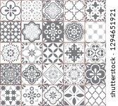 lisbon geometric azulejo tile... | Shutterstock .eps vector #1294651921
