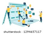 web development. project team... | Shutterstock .eps vector #1294657117