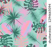 tropical background   palm... | Shutterstock .eps vector #1294665094