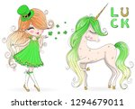 hand drawn beautiful  cute ... | Shutterstock .eps vector #1294679011