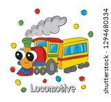 sweet  cute locomotive cartoon... | Shutterstock .eps vector #1294680334