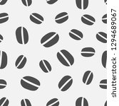 coffee beans seamless pattern... | Shutterstock .eps vector #1294689067