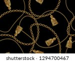 seamless golden chain pattern... | Shutterstock .eps vector #1294700467