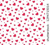 red hearts pattern as a... | Shutterstock .eps vector #1294715014