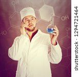 young bearded scientist in... | Shutterstock . vector #1294721464