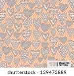 seamless doodle pattern with... | Shutterstock .eps vector #129472889