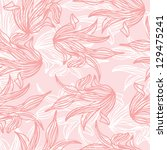 Seamless Pattern Of Pink Leaf...