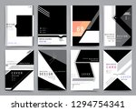 covers with minimal design.... | Shutterstock .eps vector #1294754341