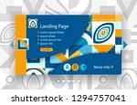 template landing page with... | Shutterstock .eps vector #1294757041