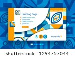 template landing page with... | Shutterstock .eps vector #1294757044