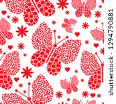 red monochrome seamless... | Shutterstock .eps vector #1294790881