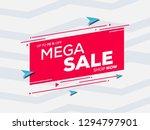 sale banner template design for ... | Shutterstock .eps vector #1294797901