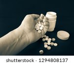 many tablets are in the hands... | Shutterstock . vector #1294808137