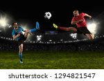 football player in action on a... | Shutterstock . vector #1294821547