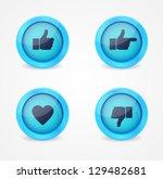 set of glossy social vector...