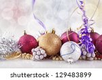 christmas decorations | Shutterstock . vector #129483899