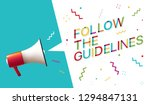follow the guidelines | Shutterstock .eps vector #1294847131