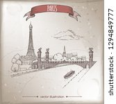 vintage travel illustration... | Shutterstock .eps vector #1294849777