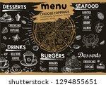 restaurant cafe menu  template... | Shutterstock .eps vector #1294855651