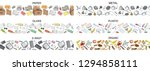 vector hand drawn set of...   Shutterstock .eps vector #1294858111