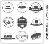 set of vintage bakery labels... | Shutterstock .eps vector #129486209