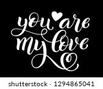 you are my love hand written... | Shutterstock .eps vector #1294865041
