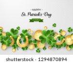 st. patricks day card. 3d... | Shutterstock .eps vector #1294870894