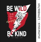 wild slogan with leopard and... | Shutterstock .eps vector #1294886764