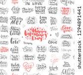 unique big set of love hand... | Shutterstock .eps vector #1294891441