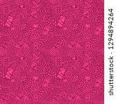 pattern of doodle elements... | Shutterstock .eps vector #1294894264
