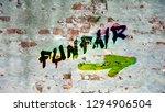 wall graffiti to funfair   Shutterstock . vector #1294906504