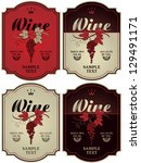 set of four labels for wine... | Shutterstock .eps vector #129491171